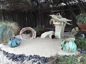 Elizabeth Saltos, sculpture garden ceramic forms